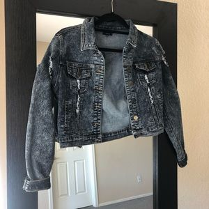 CHIQLE Dark wash jean jacket